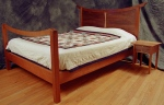 Davey Bed black cherry, black walnut, birdseye maple 86l x 78w x 51h