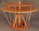 da Vinci Table douglas fir, curly black cherry, curly soft maple 34dia x 24h