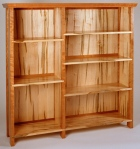 Delaney Bookcase black cherry, wormy soft maple 53w x 15d x 53h