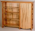 Delaney Bookcase with Drawers black cherry, curly soft maple, black walnut 48w x 13d x 40h