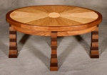 Franco Ellipse Table black walnut, butternut, birdseye maple, hard maple 36l x 20w x 17h