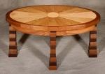 Franco Ellipse Table black walnut, butternut, birdseye maple, hard maple 36l x 20w x 17h