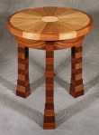 Franco Round Table black walnut, butternut, birdseye maple, hard maple 23d x 23h