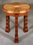 Franco Round Table black walnut, butternut, birdseye maple, hard maple 23d x 23h