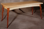 Gazelle Console Table quartersawn maple, black walnut 60l x 24d x 25h