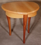 Gazelle Side Table birdseye maple, black walnut 28w x 28d x 23h