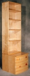 Nathaniel Bookcase hard maple, white ash, various woods 23w x 25d x 81h