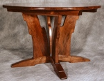 Sacks Dining Table black walnut, curly maple, black cherry, southern yellow pine, honey locust 48dia x 30h (expands to 84l)