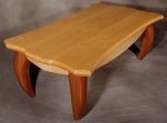 Water Buffalo Table blistered maple, black walnut 55l x 29w x 17h
